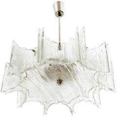 Kalmar Light Fixture, Glass Nickel, 1970