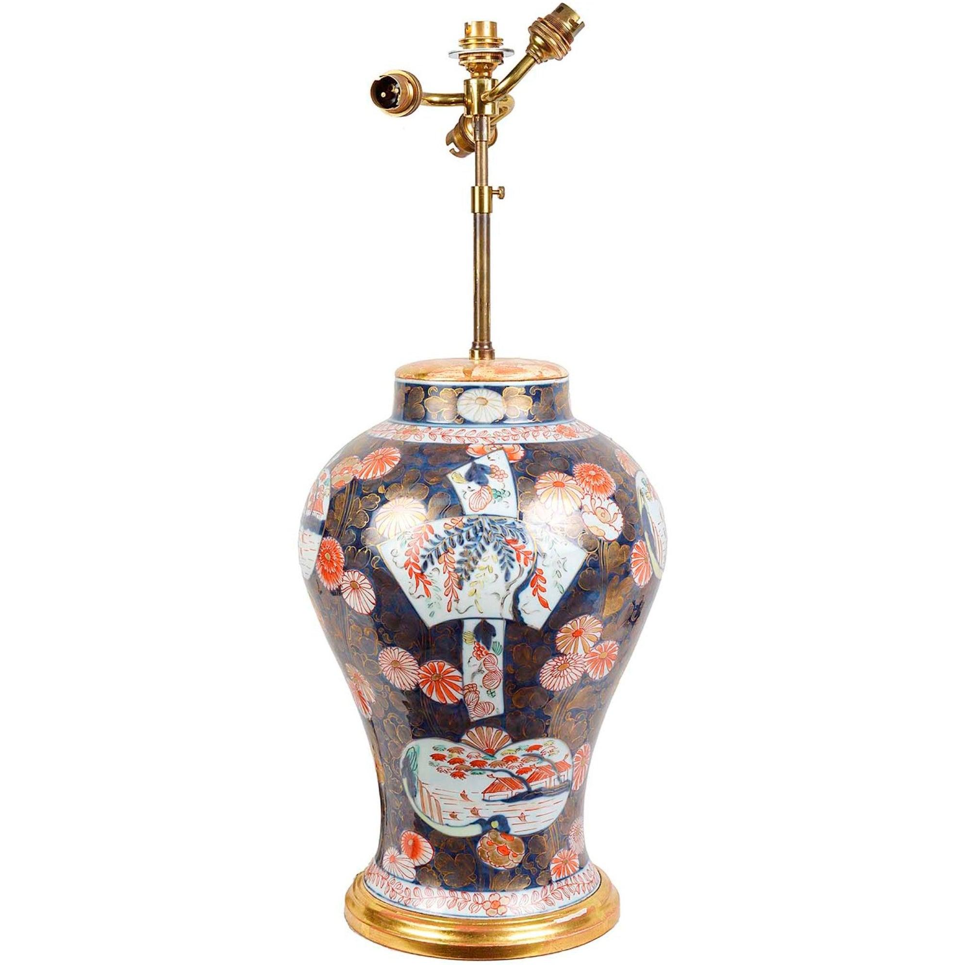 19th Century Imari Vase or Lamp