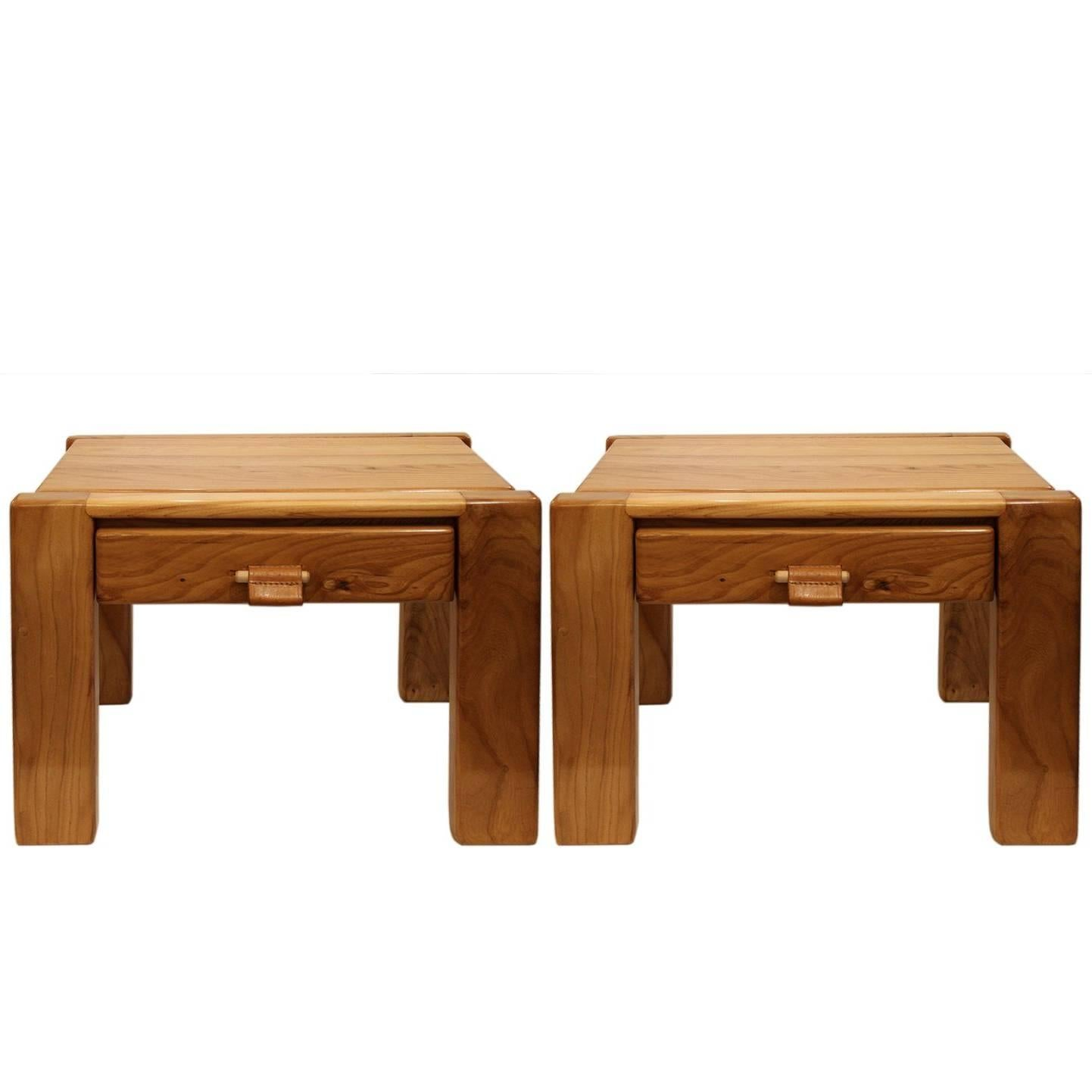Pair of Side Tables by Pierre Chapo, circa 1960