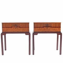 1930s Scandinavian Art Deco Nightstands or Side Tables