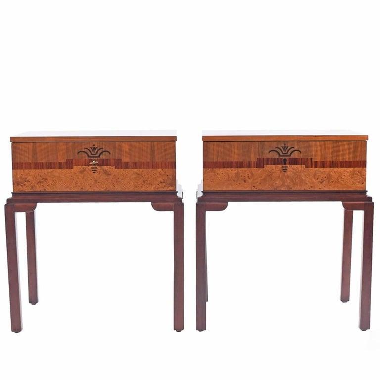1930s Scandinavian Art Deco Nightstands or Side Tables