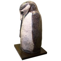 Terracotta Penguin Sculpture