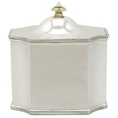 1920 Antique Sterling Silver Tea Caddy