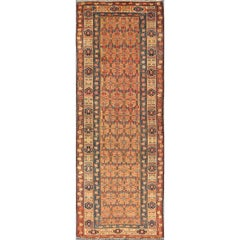 Antique Persian Serab Runner with All-Over Tribal Sub-Geometric Pattern