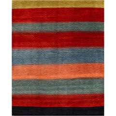 Large 21st Century Contemporary Multicolored Persian Gabbeh Carpet
