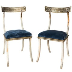 Pair of 19th century Swedish Klismos Chairs