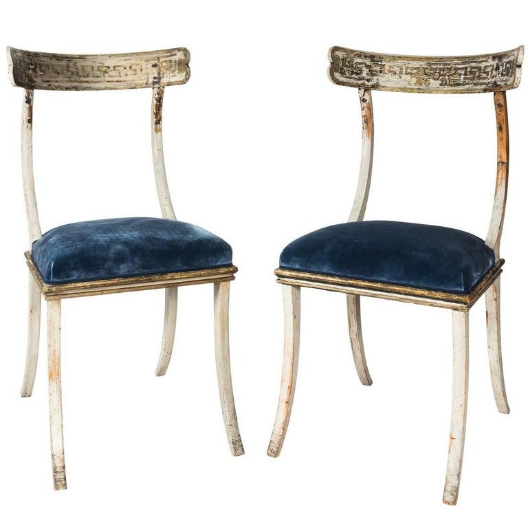Pair of 19th century Swedish Klismos Chairs