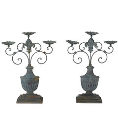 Pair of Tole Candlesticks