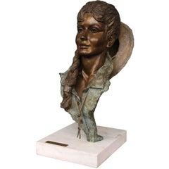 Sun Dance, Contemporary Bronze Sculpture Signed by Artist Peggy Mach, 1998