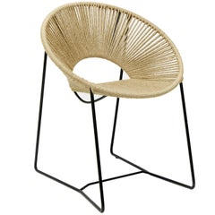 Handwoven Tropical Cali Dining Chair, Steel and Jute