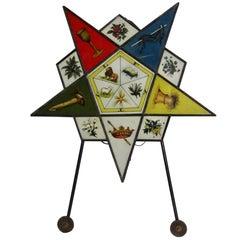 1920s Illuminated Star Sign Mason Eastern Star