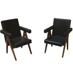 Pierre Jeanneret Set of Two Senate Committee Chairs