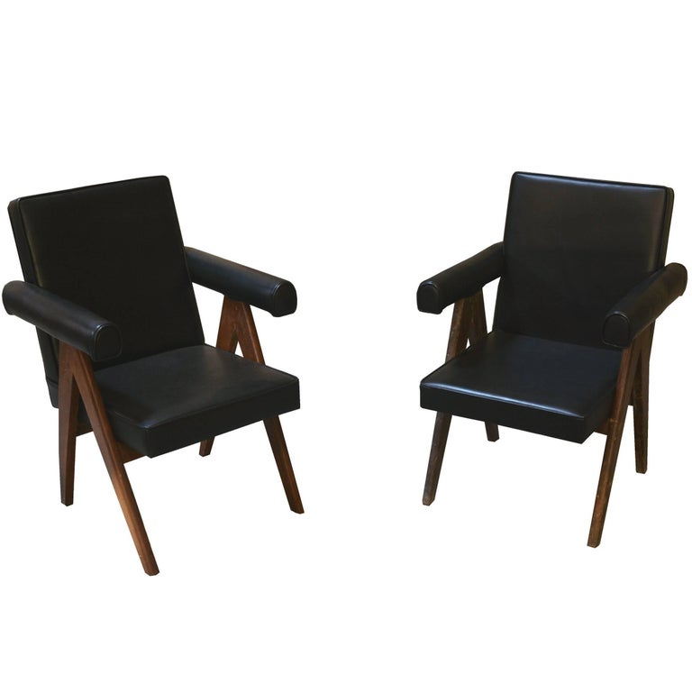 Pierre Jeanneret Set of Two Senate Committee Chairs For Sale