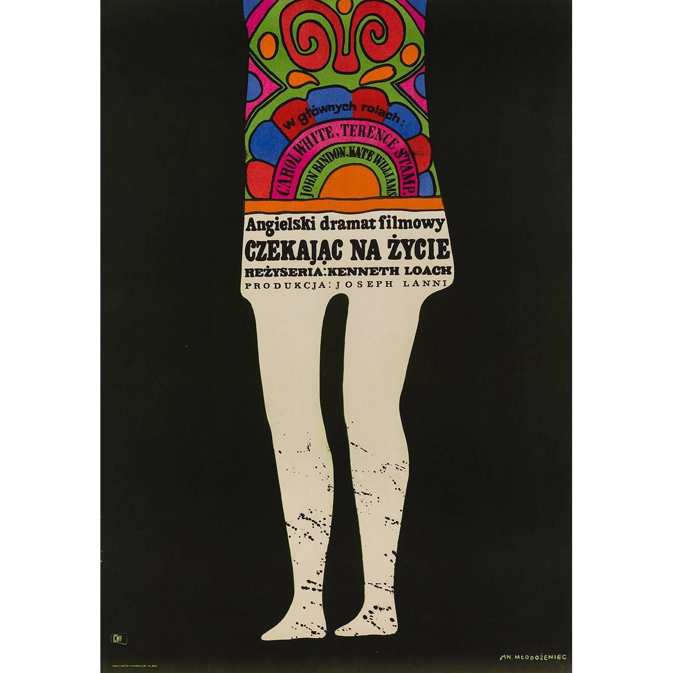 Poor Cow Polish Film Poster, Jan Mlodozeniec, 1969