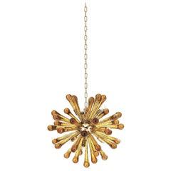 Sputnik Amber Murano Glass Chandelier