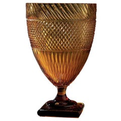Crystal Goblet in Amber
