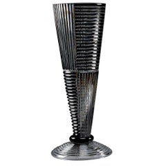 Crystal Tall Vase in Clear and Black