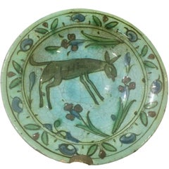 Late 17th Century Iznik Animal Plate