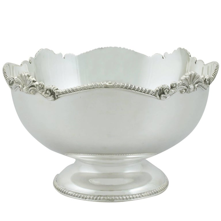 1980s Sterling Silver Bowl For Sale
