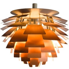 Early 'PH Artichoke' pendant for Louis Poulsen with Copper Shades