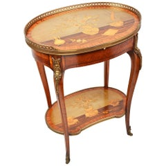 Louis XVI Style Inlaid Side Table, 19th Century