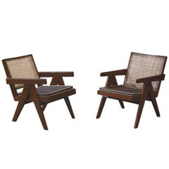 Pierre Jeanneret Pair of Easy Armchairs, circa 1955