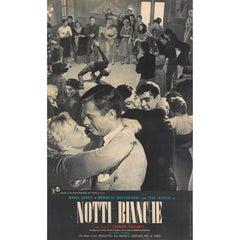 """""""La Notti Bianche / White Nights"""" Original Italian Movie Poster"""