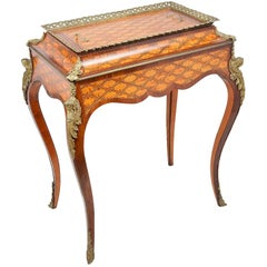 Donald Ross, Louis XVI Style Inlaid Jardinière Table, 19th Century
