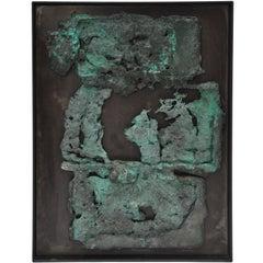Bronze Over-Pour Mounted Sculpture by Musician/Artist Elliot Bergman