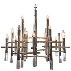 Sciolari Chandelier with Brass Accents