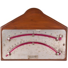 Double Gauge Clinometer on Teak Back, by Moeller