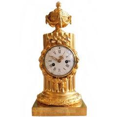 Gilt Bronze Louis XVI Clock L. Case Signed Osmond