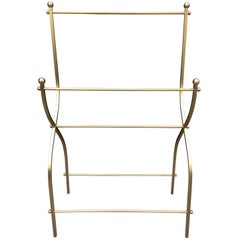 1960s Charles Hollis Jones Towel Rack for Lucille Ball in Solid Brass
