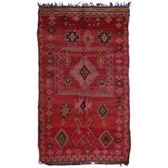 Vintage Berber Moroccan Rug with Modern Tribal Design