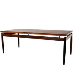 Scandinavian Modern Rectangular Rosewood Coffee Table by Grete Jalk