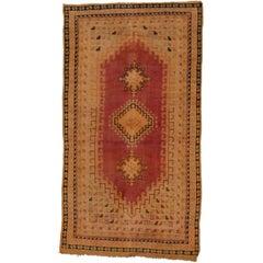 Vintage Berber Orange Moroccan Rug with Modern Style