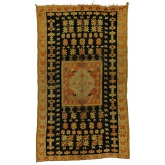 Vintage Moroccan Rug with Boho Chic Modern Tribal Style