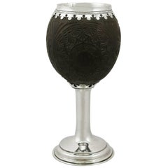 19th Century Silver Mounted Coconut Cup