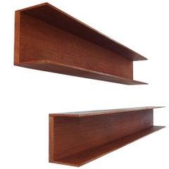 Walter Wirz Set of Teak Shelves for Wilhelm Renz, Germany, 1964