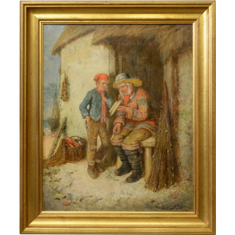 Oil Painting of 'Old Sea Dog and Boy'