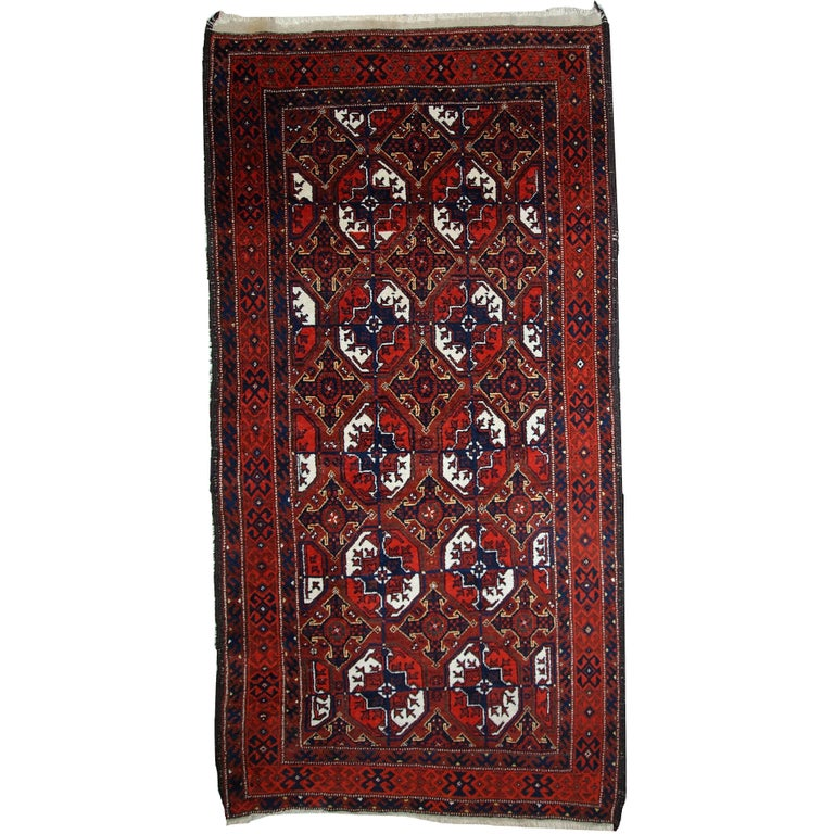 Antique Afghan Rugs: Handmade Antique Afghan Baluch Rug, 1900s For Sale At 1stdibs