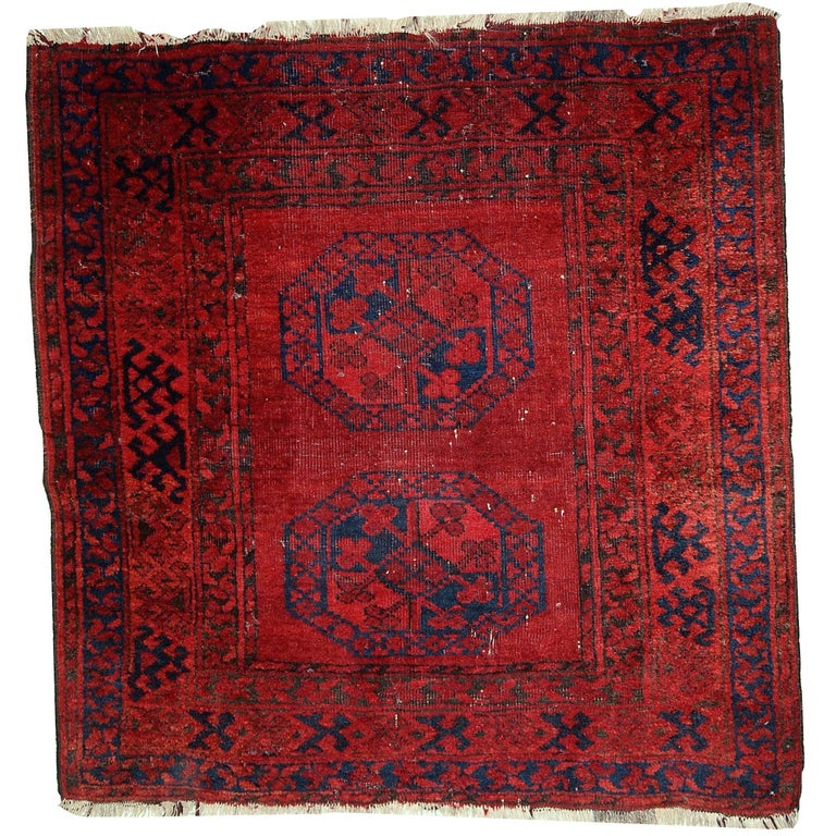 Handmade Antique Afghan Ersari Rug, 1900s At 1stdibs
