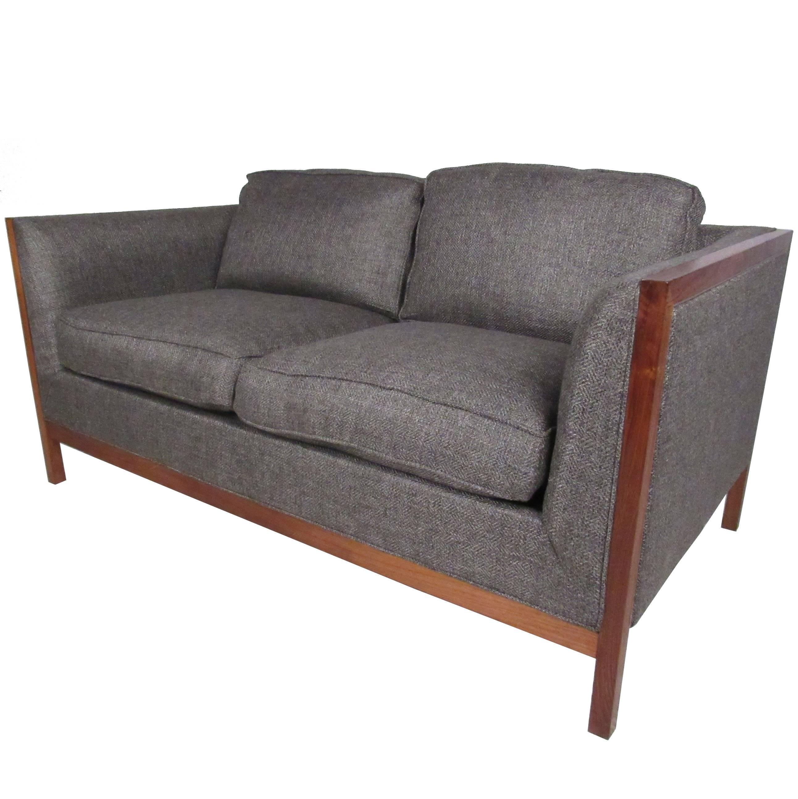 midcentury twoseat sofa by stow davis