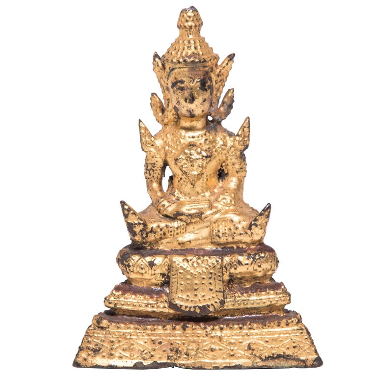 Thai Gilt Buddha Figure For Sale