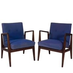 Pair of Midcentury Teakwood Armchairs