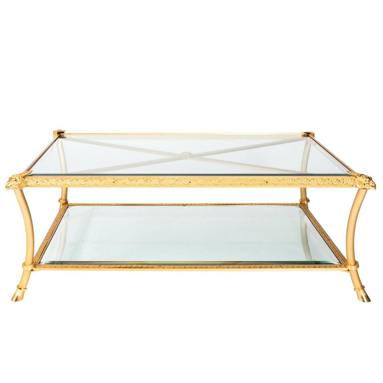Gilt Bronze Coffee Table For Sale