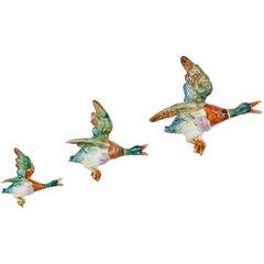 Set of Three Graduating Flying Ducks by Royal Dux