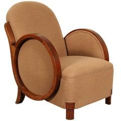 Art Deco Mohair Club Chair
