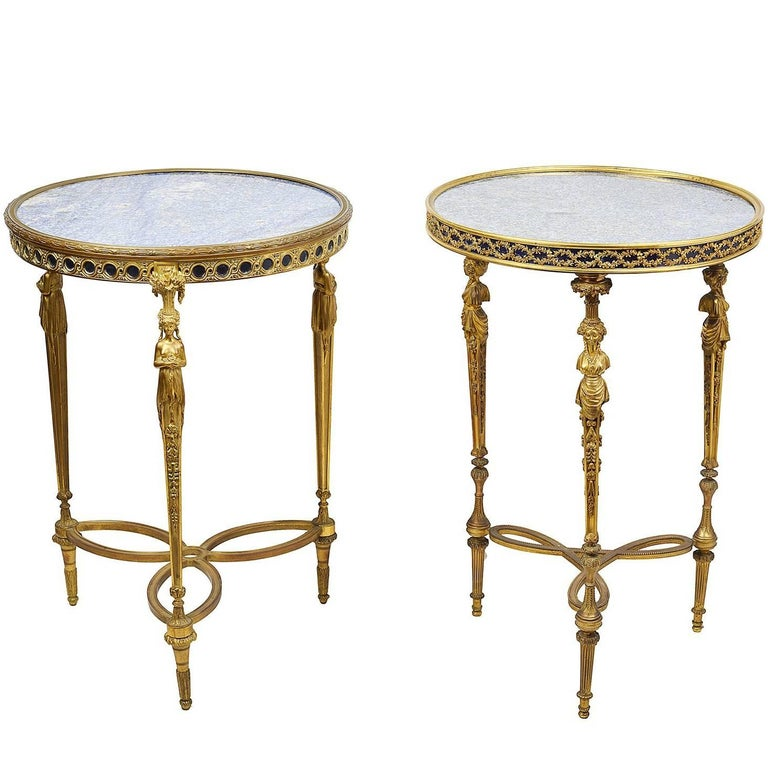 Louis XVI Style Tables, After Weisweiler For Sale