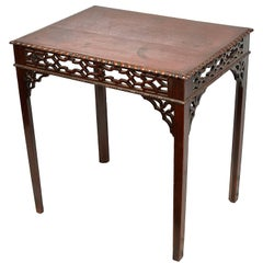 Chippendale Style Mahogany Side Table, 19th Century